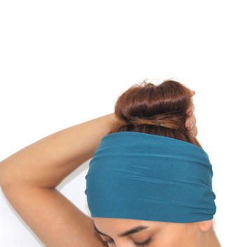 petrol blue wide yoga hairband, headbands,Pilates headbands,headbands,yoga headbands