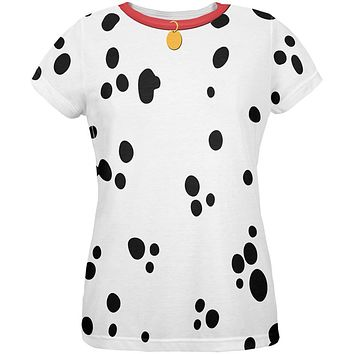 Dog Dalmatian Costume Red Collar All Over Womens T-Shirt