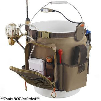 Wild River RIGGER 5 Gallon Bucket Organizer w-Light, Plier Holder & Retractable Lanyard [WL3506]