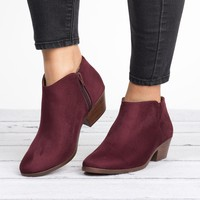 Zipper Ankle Booties