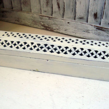 White Incense Box, Incense Burner, Incense Coffin, Shabby Chic Distressed Incense Holder, Wooden Box, Gift Ideas