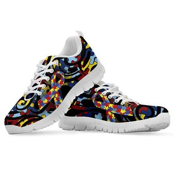 Autism Awareness Ribbon Running Shoes