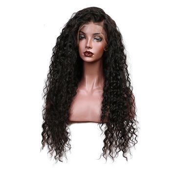Slove Curly Lace Front Human Brazilian Remy Hair Wig