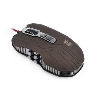 9D 2400DPI 9 Buttons Optical Usb Gaming Multimedia Mouse Gray