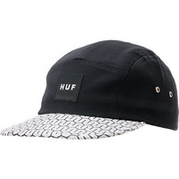 Huf Linked Up Box Logo Black 5 Panel Hat