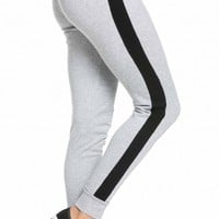 Cuffed Tracksuit Joggers in Gray