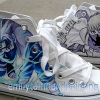 Naruto Converse-Hand Paint Kakashi on Converse Sneakers, Custom Converse Kakashi Naruto Inspired, Best Christmas Gift, Birthday Gift