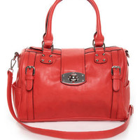 Melie Bianco Joanna Handbag - Red Purse - Red Satchel - $94.00