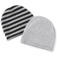 Starting Out Baby Boys 2-Pack Solid/Striped Knit Hat Set   Dillards
