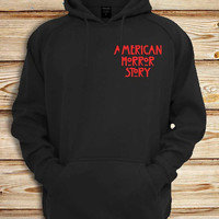 American Horror Story logo pocket Screenprint design for Unisex hoodie sweatshirt for gift