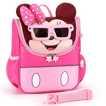 Toddler Backpack class Mickey Minnie Kids Toddler Anti-lost Backpack with Safety Harness Leash Bags for Girls Boys Kindergarten Preschool School Bag AT_50_3