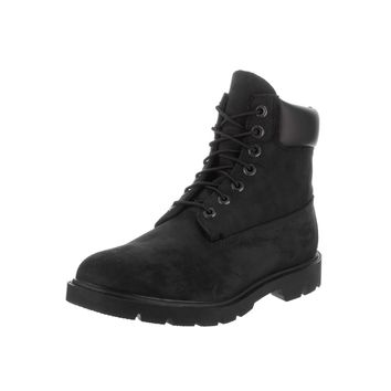 Timberland Men's Black Nubuck 6-Inch Basic Waterproof Boots