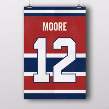 Dickie Moore Number 12 Jersey