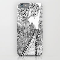 Zentangle Illustration - Road Trip iPhone & iPod Case by Vermont Greetings