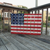 American flag on a wooden pallet