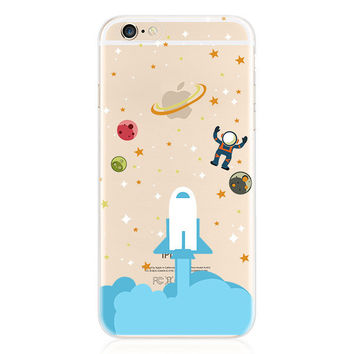 Spaceship and Planets Case for iPhone Fun