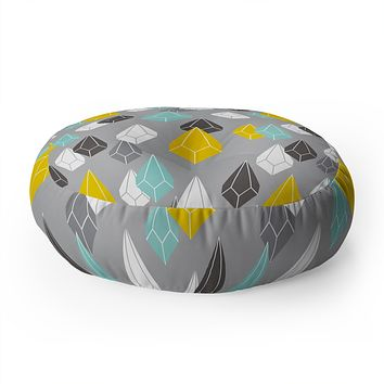 Heather Dutton Raining Gems Whisper Floor Pillow Round