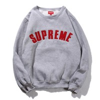 Supreme Embroidered Street Tide Licensing Round Neck Hedging Loose Male And Female Couples Super Soft Plus Cashmere Sweater