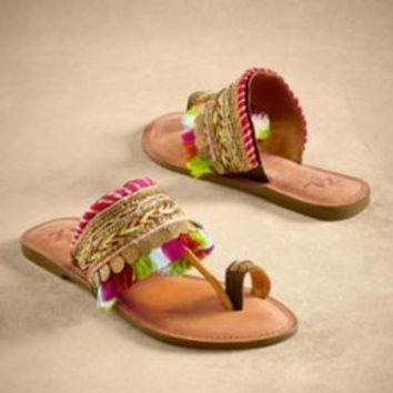 Souk Sandals - Womens Leather Sandals, Toe Ring Sandals | Soft Surroundings