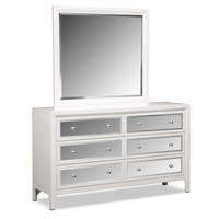 Bonita Dresser and Mirror - White