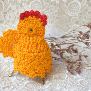 Easter crochet chicken Easter egg cover cozy Yellow chickens egg warmer Easter decoration chicks kitchen decor spring gift Easter gift