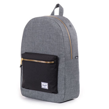 Herschel Supply Co.: Settlement Backpack - Charcoal Crosshatch / Black