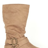Mid-Height Suede Boot