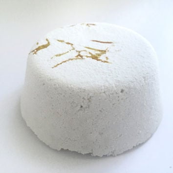 Pure & Sensitive Bath Bomb• Bath Fizzy, Artisan, Gift, Calendula, Sensitive Skin, Soothing, Valentine's Day Gift for Her