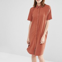 Selected | Selected Vilo Short Sleeved Shirt Dress at ASOS