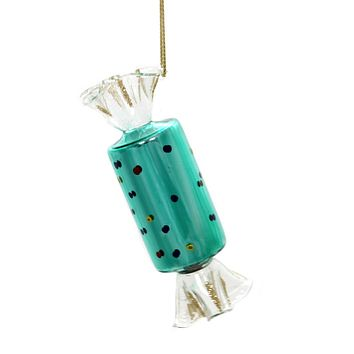 Holiday Ornaments WRAPPED CANDY. Glass Christmas Ta273s Dots