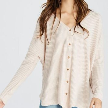 PREORDER TAYLOR THERMAL LONG SLEEVE KNIT TOP