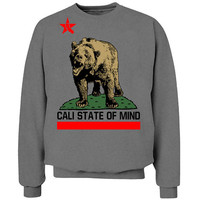 California Bear Cali State of Mind Crew Neck Sweat Shirt
