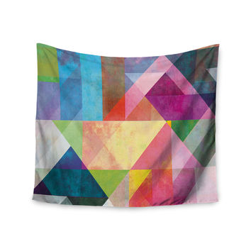 """Mareike Boehmer """"Color Blocking"""" Rainbow Abstract Wall Tapestry"""