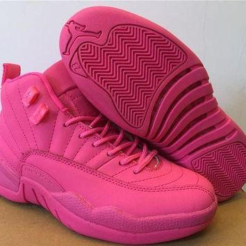 DCCKJ3V Air Jordan 12 GS Pink AJ 12 Women Basketball Shoes-1