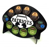 New England Patriots Football 10 K Cup Holder and Coffee Pod Display