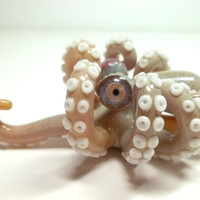 Glass Pipe Heady Mini Octopus Pipe, Octopipe, Double Amber Purple, Hand Blown, One of a Kind, Ready to Ship cgge team