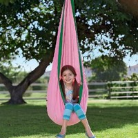 Amazon.com: HugglePodTM Indoor/Outdoor Canvas Hanging Chair, in Pink: Home & Kitchen