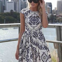 PAISLEY PRINT DRESS , DRESSES, TOPS, BOTTOMS, JACKETS & JUMPERS, ACCESSORIES, SALE, PRE ORDER, NEW ARRIVALS, PLAYSUIT, Australia, Queensland, Brisbane