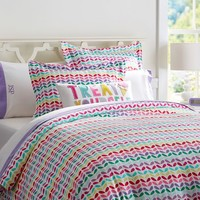 Petal Pop Flannel Duvet Cover + Sham