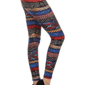 Tribal Print Red and Blue