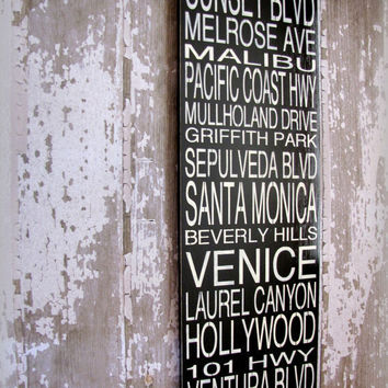 LOS ANGELES Subway Story SignSubway Scroll by cellardesigns