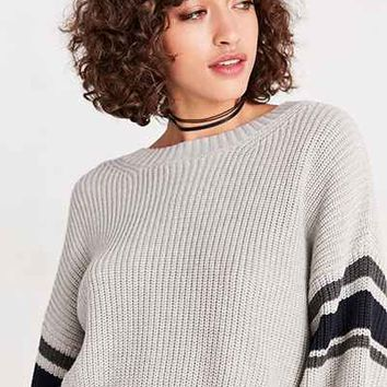 BDG Rugby Stripe Crop Pullover Sweater - Urban Outfitters