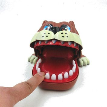 Funny Big Mouth ShaPi Dog Bite Finger Attention Toys Fidget Reduce Stress For Kids Children Gift
