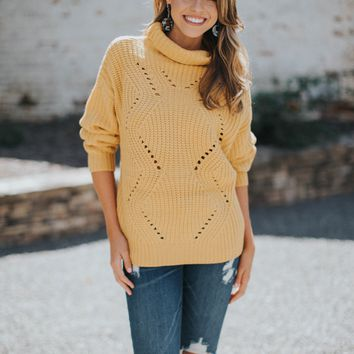 Pontelle Turtleneck Sweater, Mustard