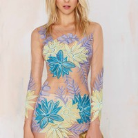 Nasty Gal x For Love & Lemons Tropicana Embroidered Dress