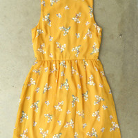 Blooming Canary Dress [3135] - $37.00 : Vintage Inspired Clothing & Affordable Dresses, deloom | Modern. Vintage. Crafted.
