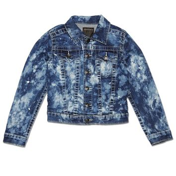 True Religion Emily Denim Toddler Girls Jacket - Dream Blue Size 4T