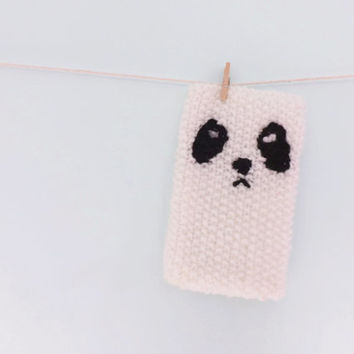 Panda Phone Case, Knit Phone Cozy Cell Phone Cover Fits iPhone and iPod Touch
