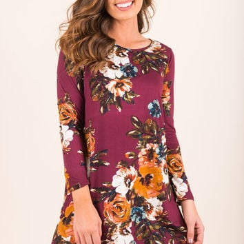 All For You Dress, Plum