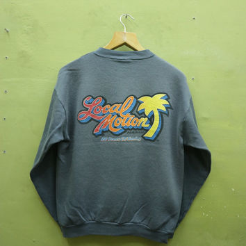 696a2c03791d4 Vintage 90s Local Motion Hawaii Sweatshirt Big Logo Surf Gear Surfing  Crewneck Pullover Sweater Made In